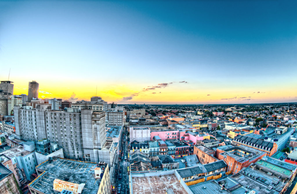 City landscape, by Scott Webb.
