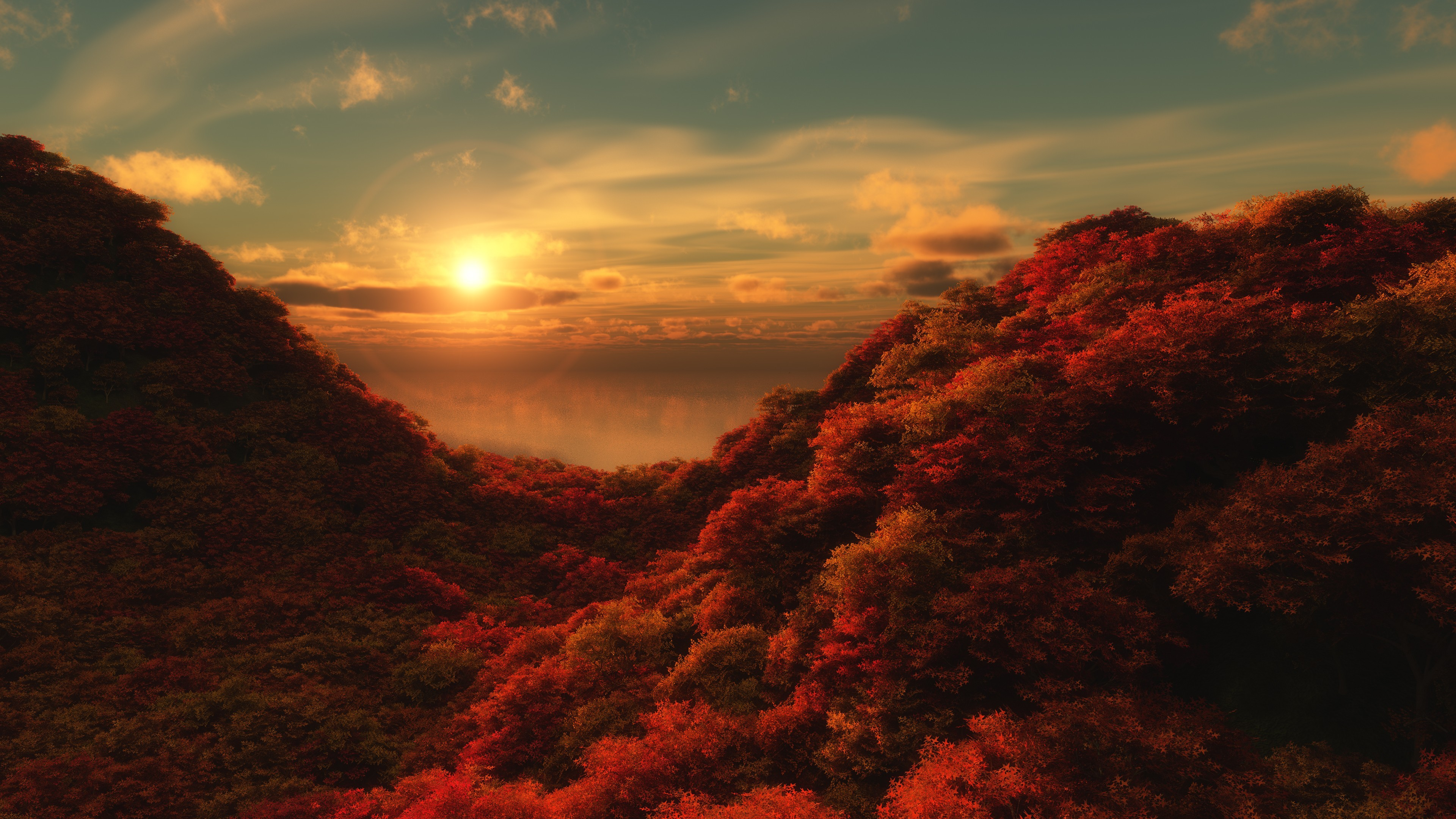 Autumn - mountain landscape