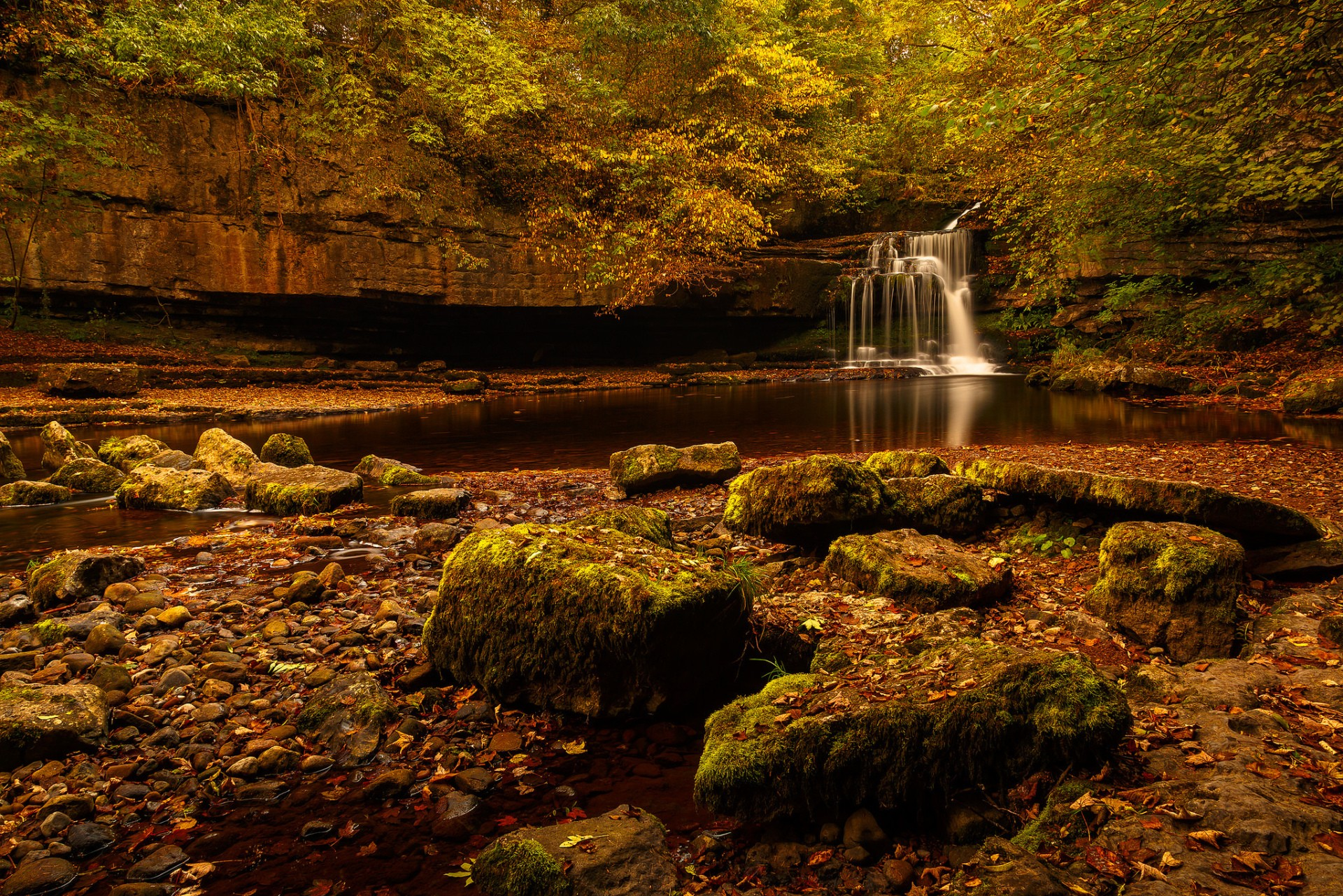 Autumn - waterfall