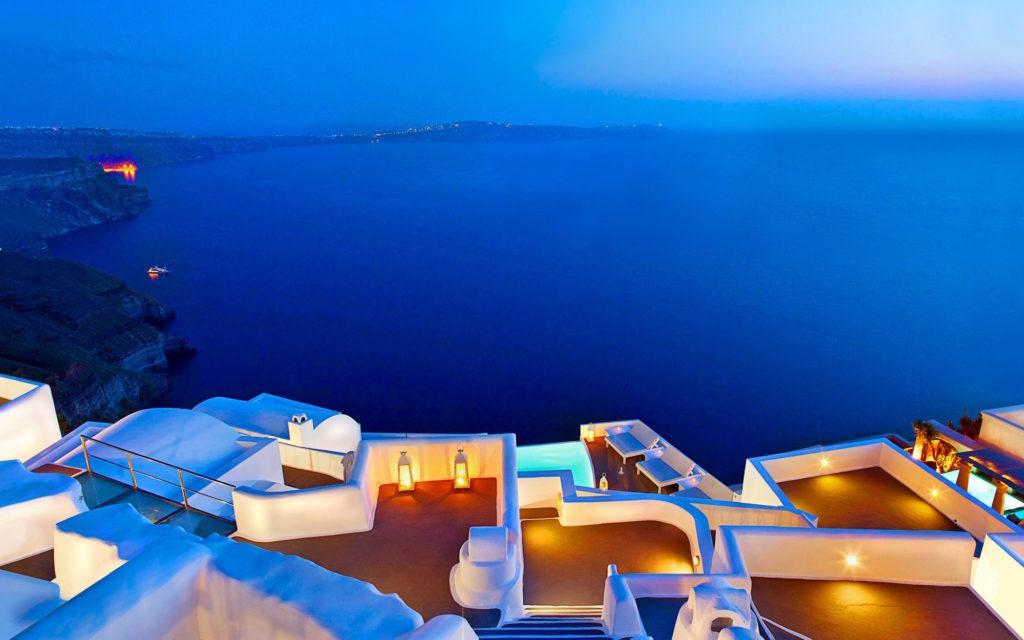 Santorini terraces, Greece