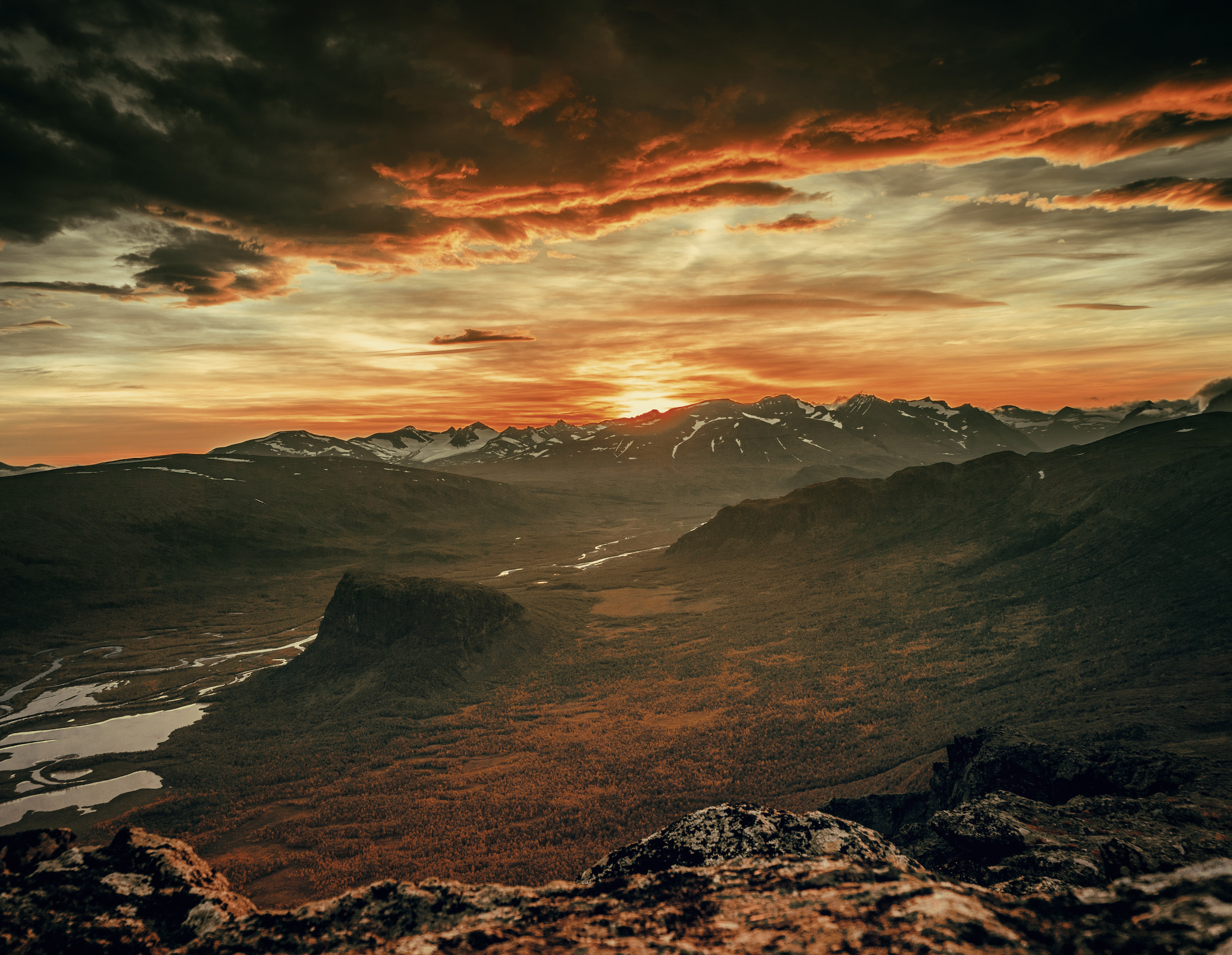mountain sunset most beautiful picture