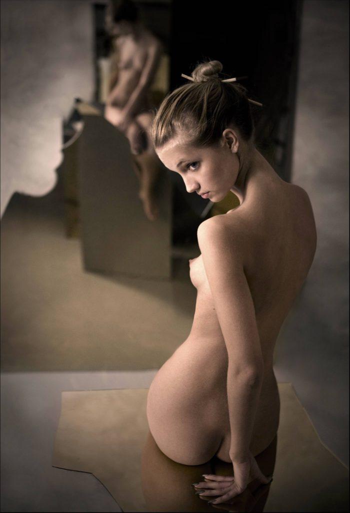 Nastya posing nude