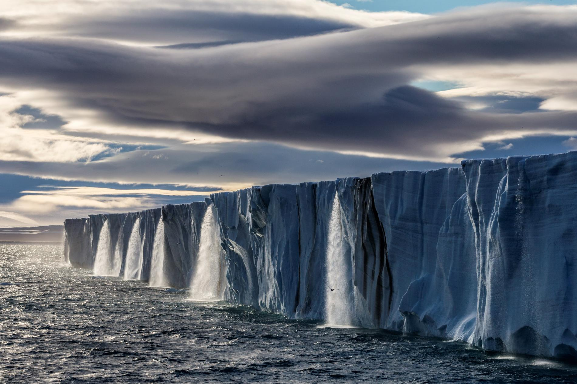 Glacier in Svalbard, Norway