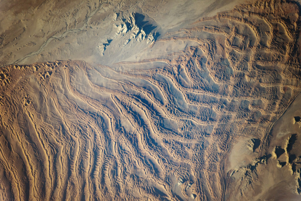 Linear dunes in Namib sand sea, Namibia