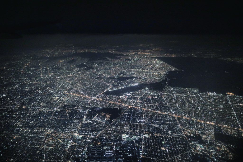 Mexico city from space