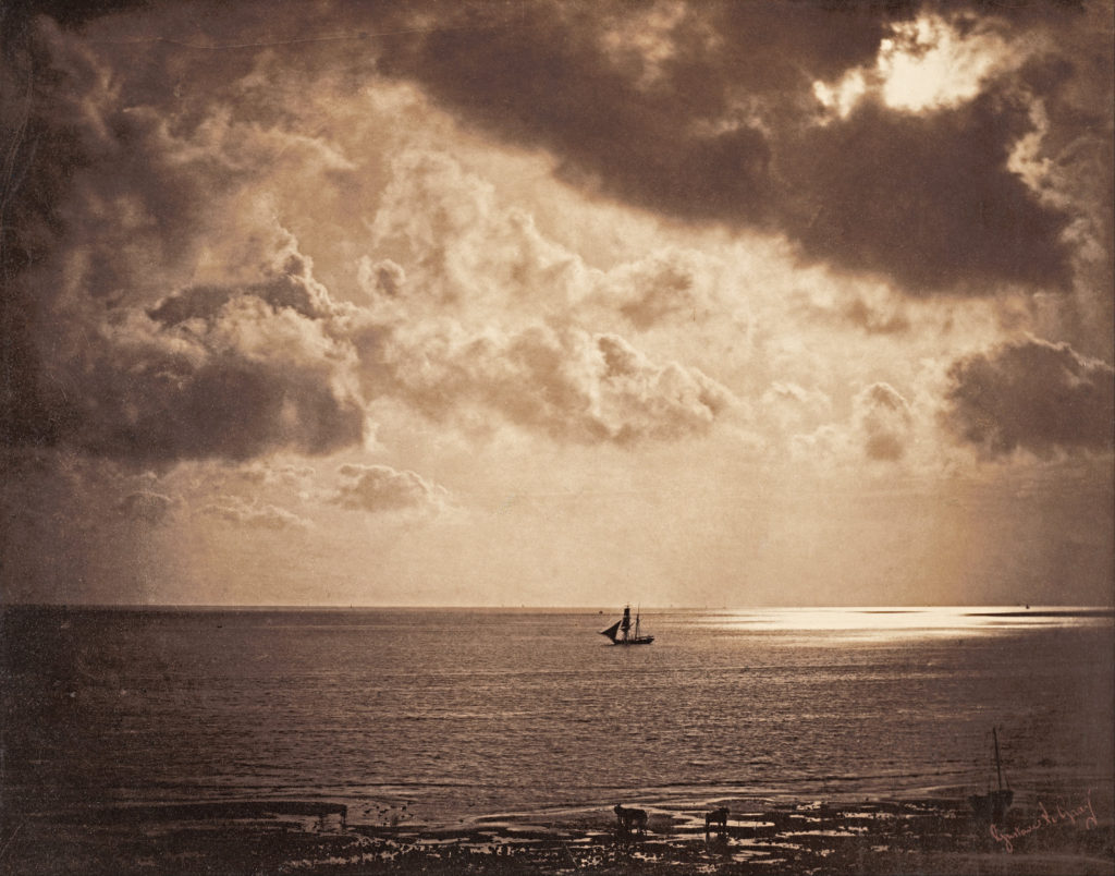 Brig upon the water, 1856, by Gustave Le Gray