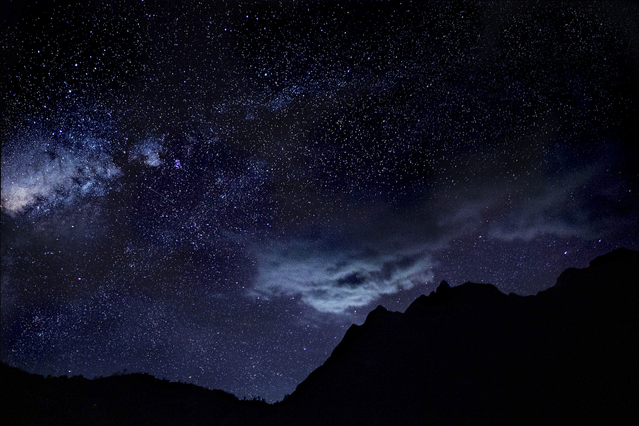 Stars in the sky at night, Thailand