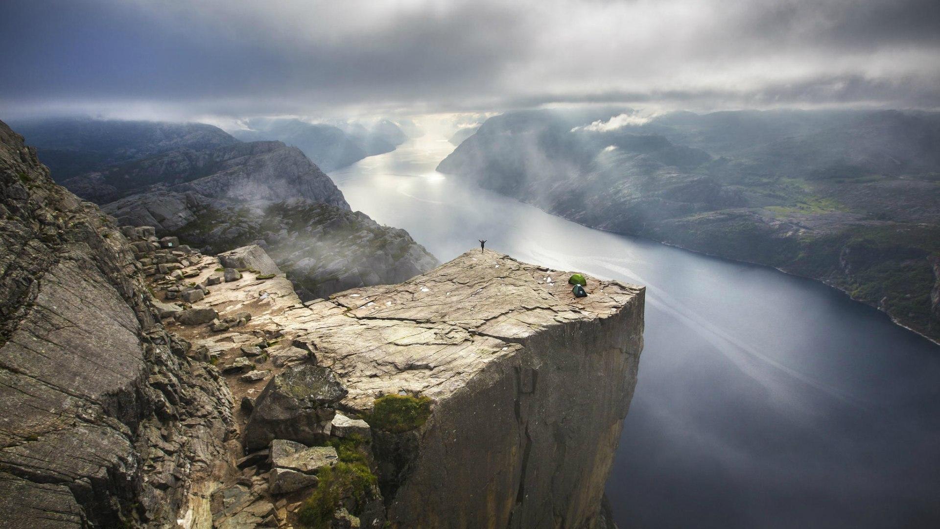 Preikestolen fjord, Norway