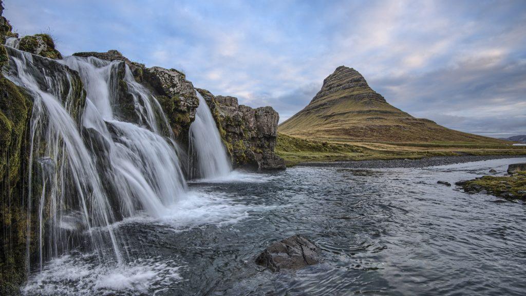 Waterfall, Kirkjufell Mountain, Iceland