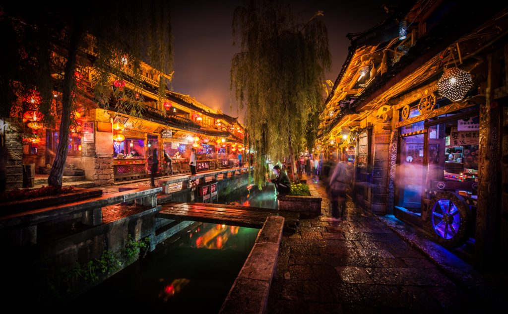 Night in Lijiang, China