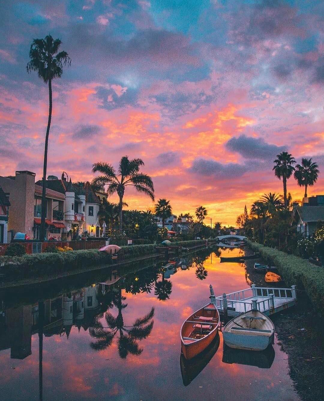 Venice Beach canal, California