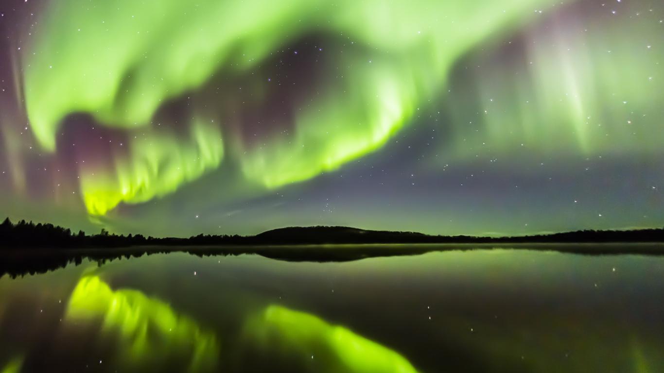 Aurora borealis, Kakslauttanen, Finland