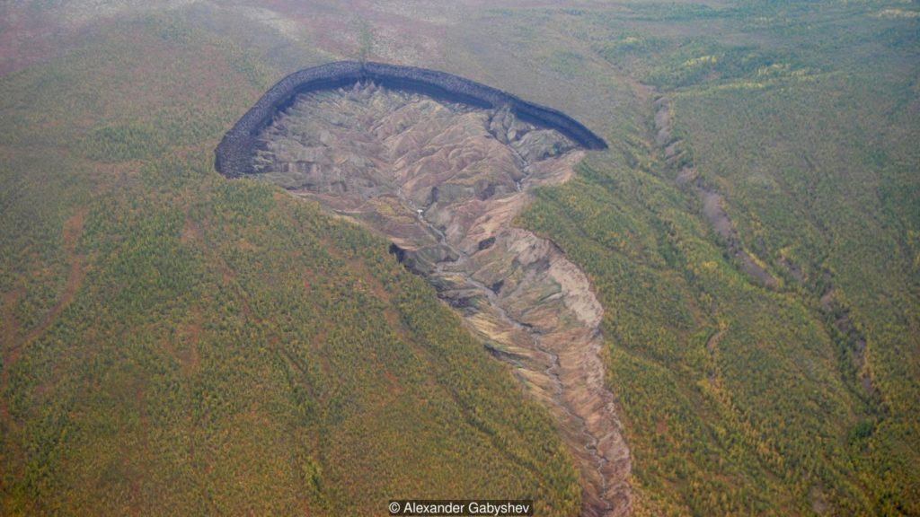 Batagaika Crater, Siberia, Russia