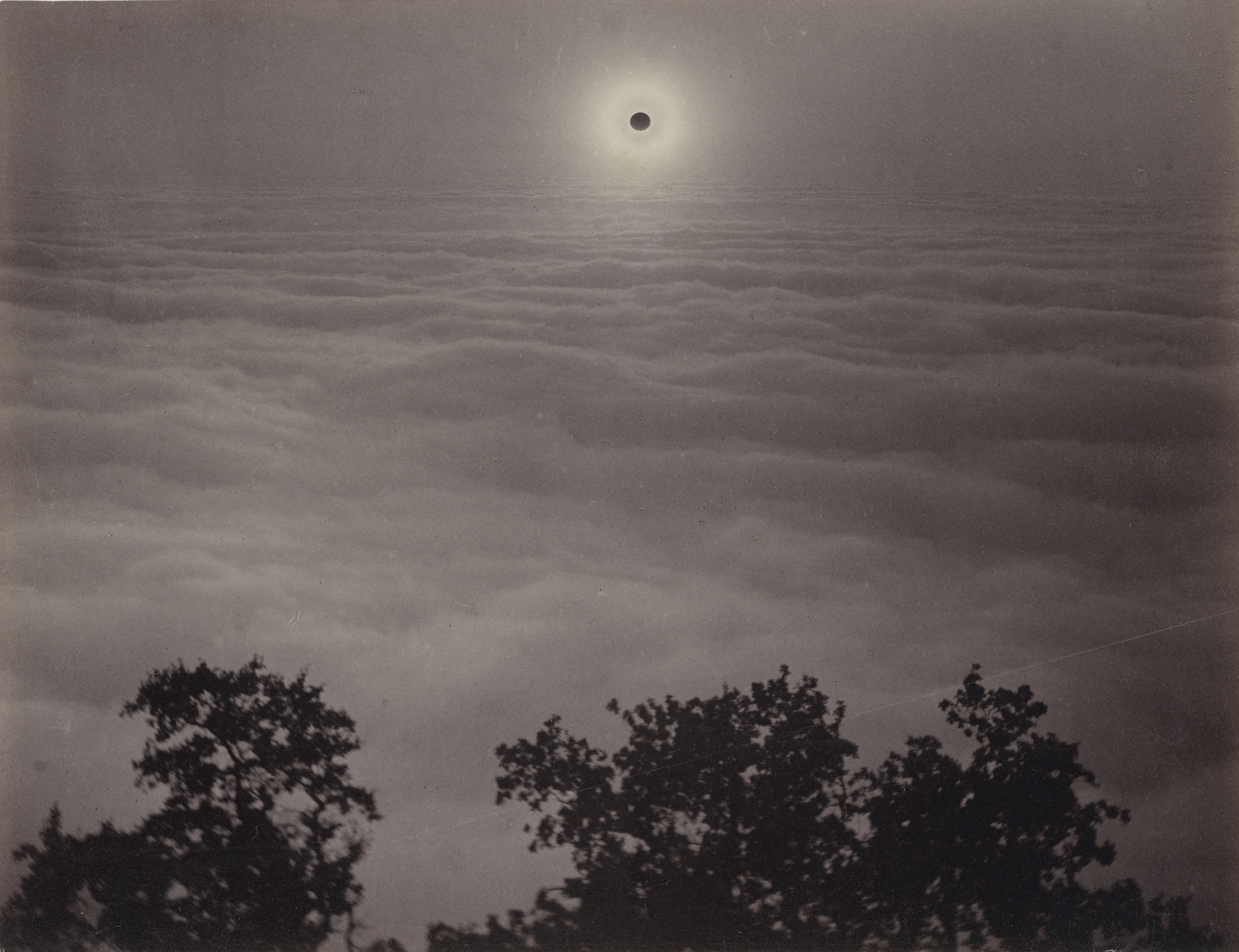 Solar Eclipse from Mount Santa Lucia, January 1, 1889