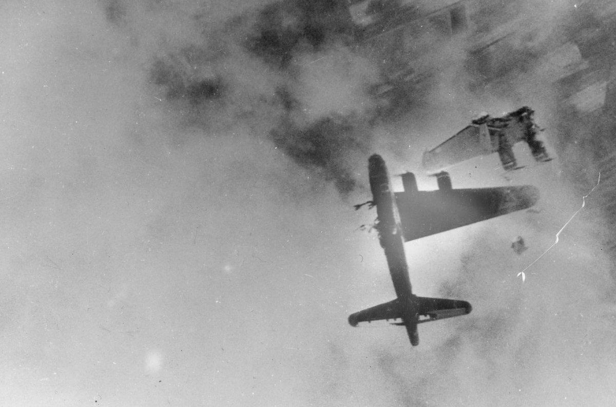Boeing B-17 shot down, Germany, 1945