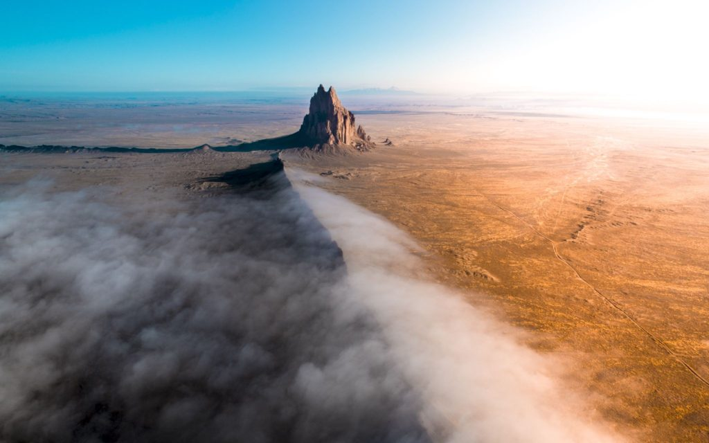 Sunrise at shiprock, New Mexico