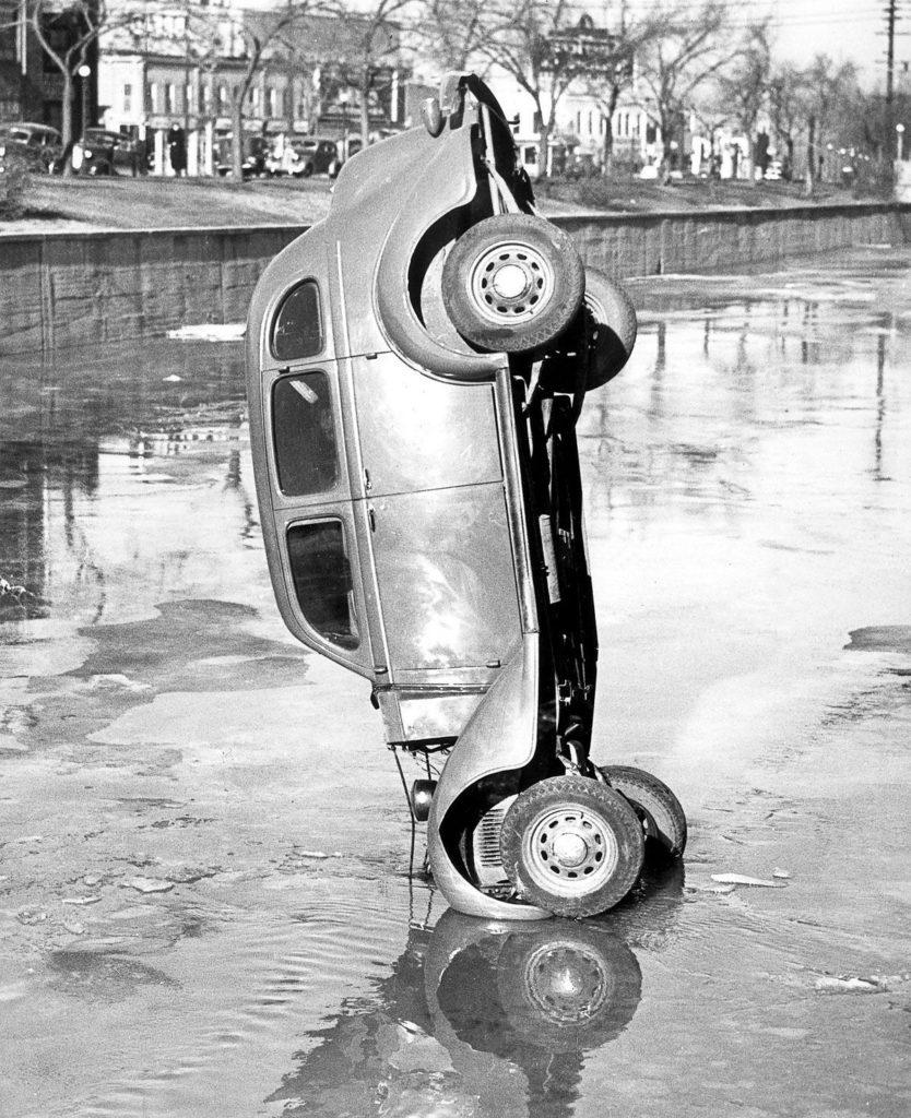Road accident in Boston