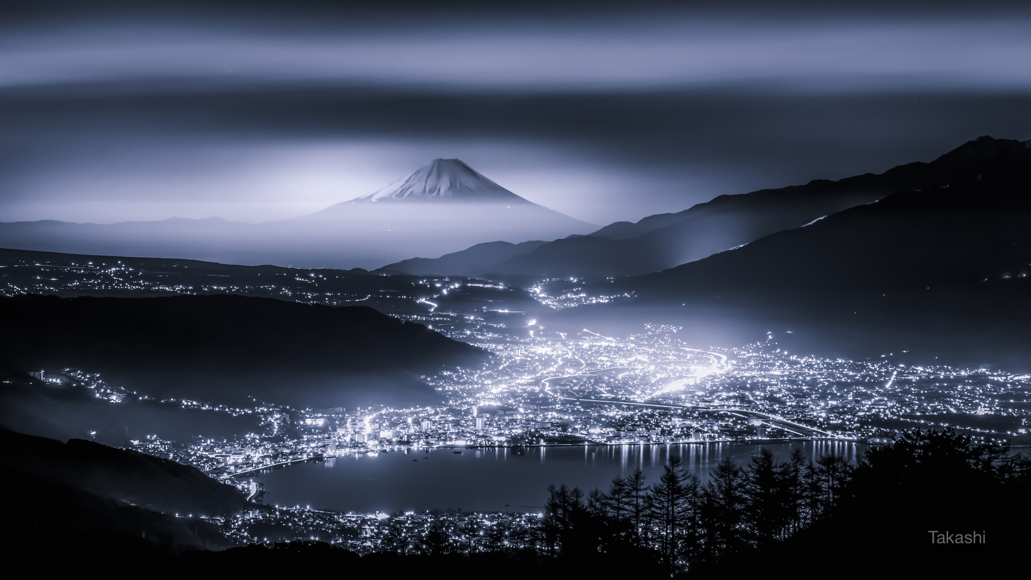 Mount Fuji by Night, Japan