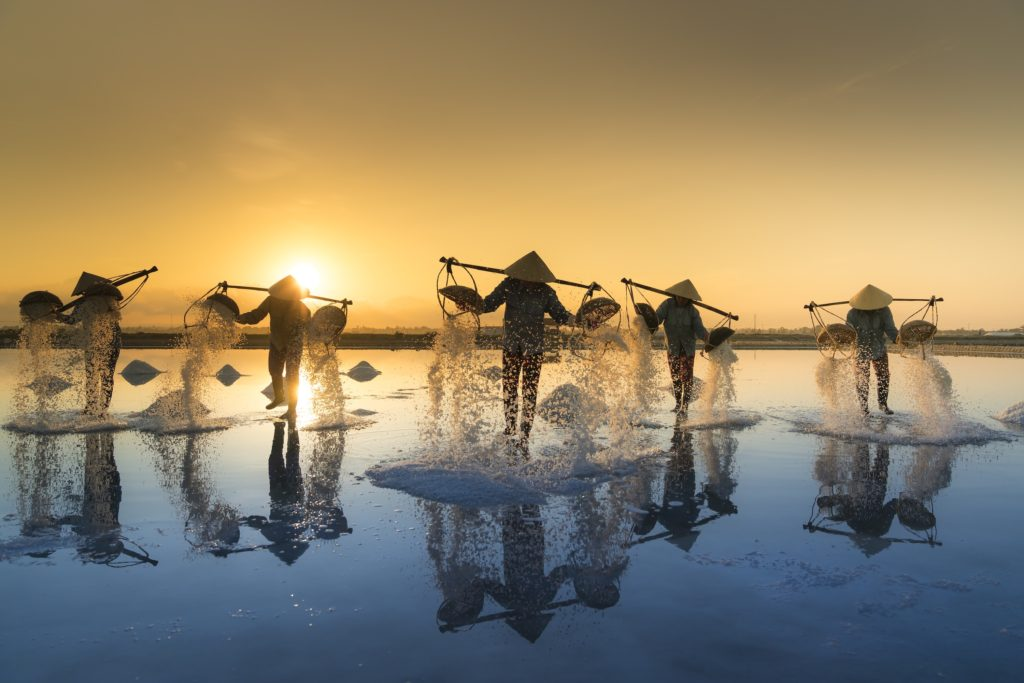 Hon Khoi Salt Fields, Vietnam