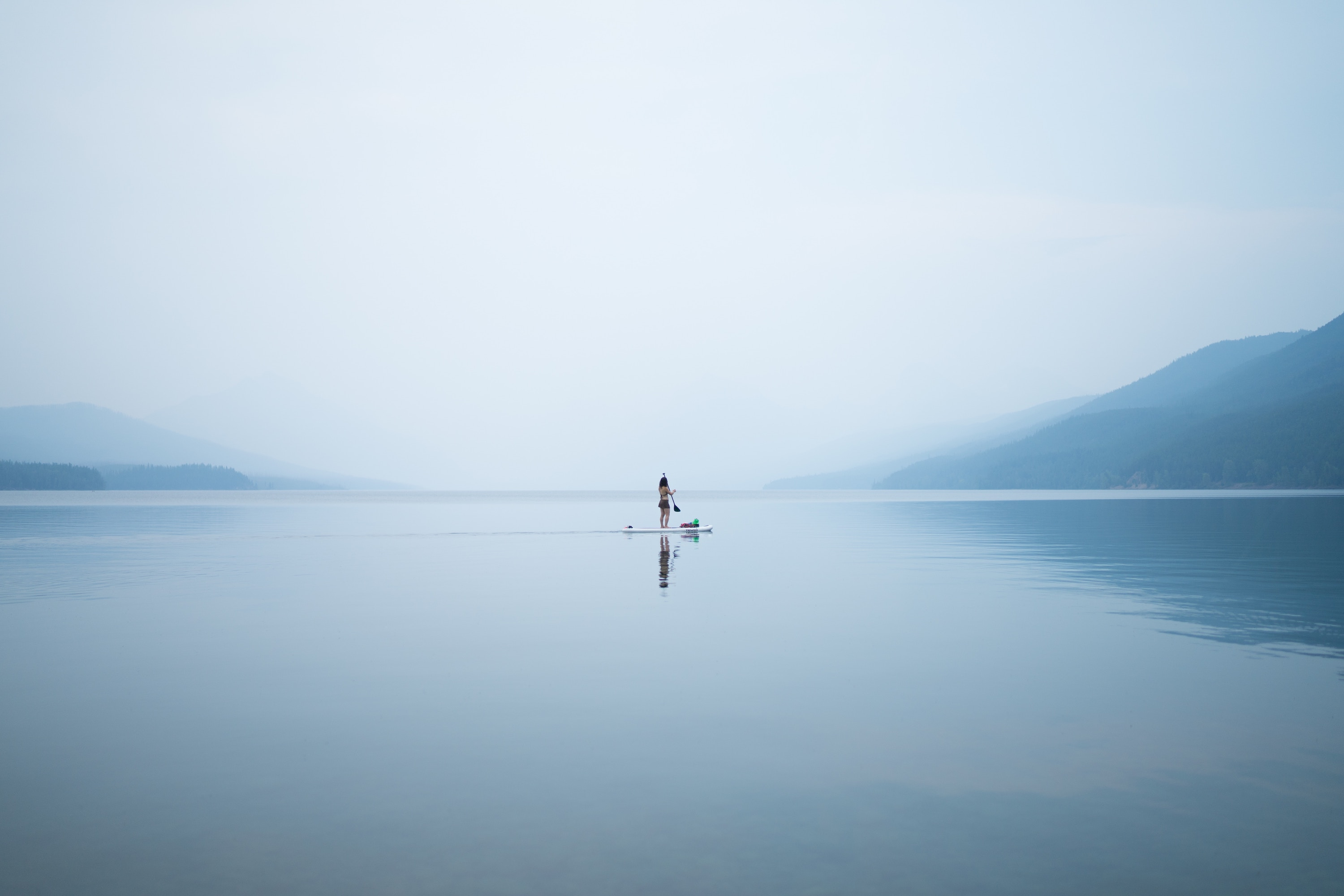 Lonely Woman on the Lake