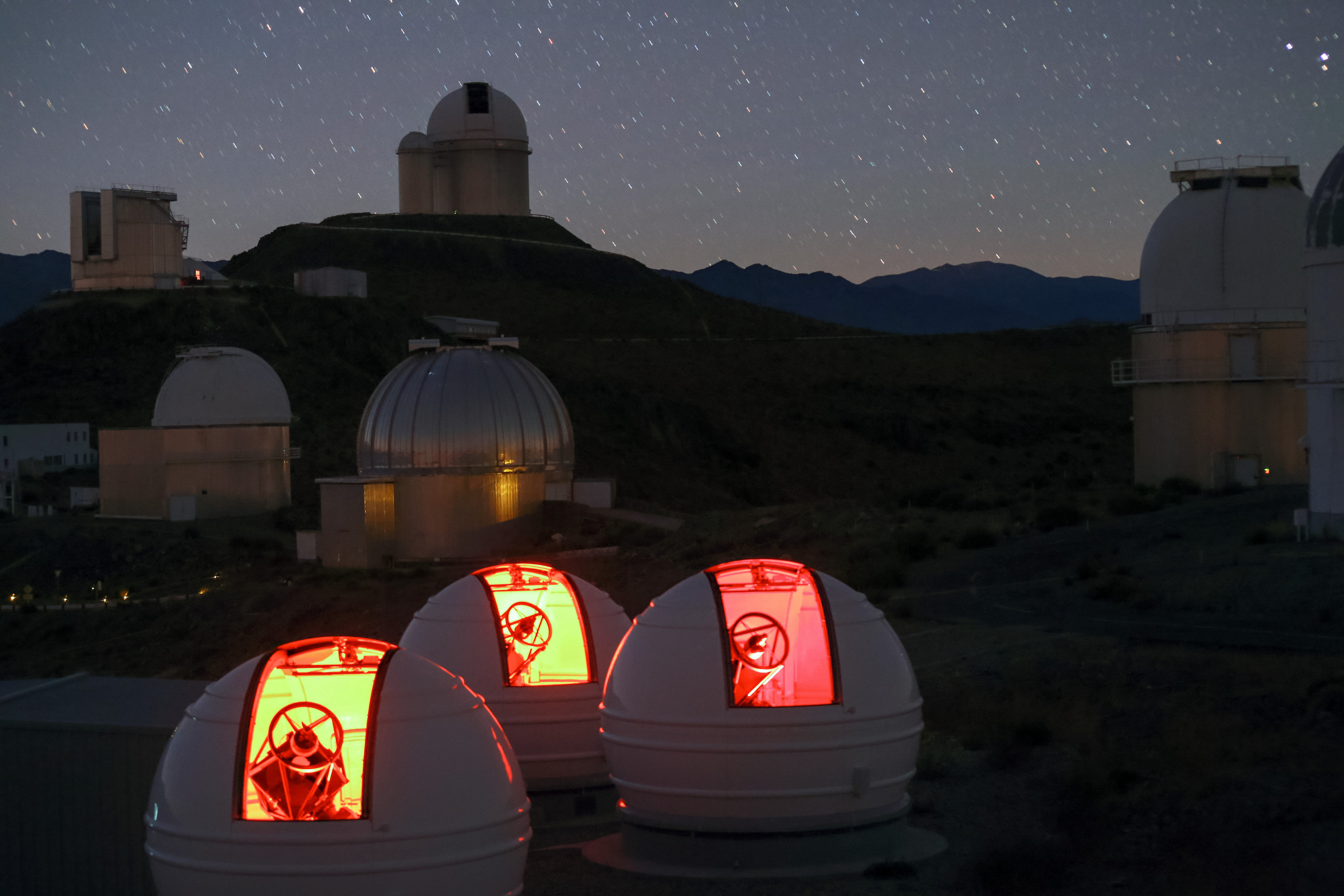The ExTrA telescopes at La Silla, Chile