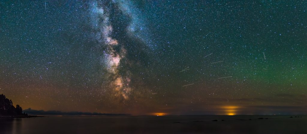 Milky Way seen from Western Estonian coast