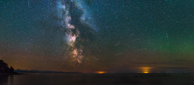 Milky Way seen from Western Estonian coast