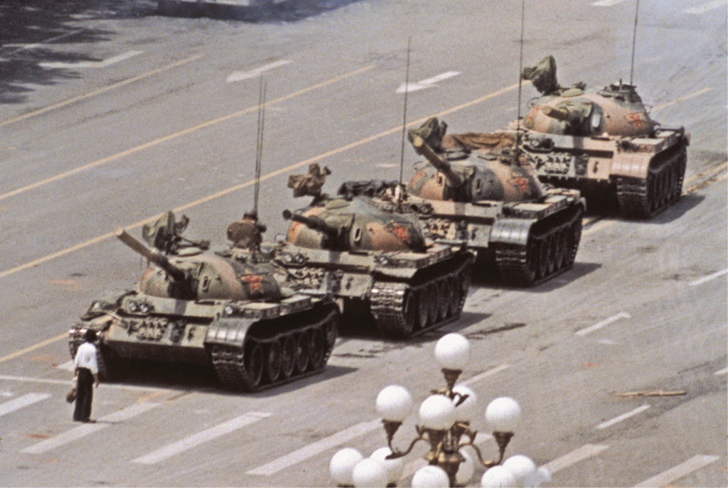 Tank Man, Tiananmen Square protests, Beijing, June 1989