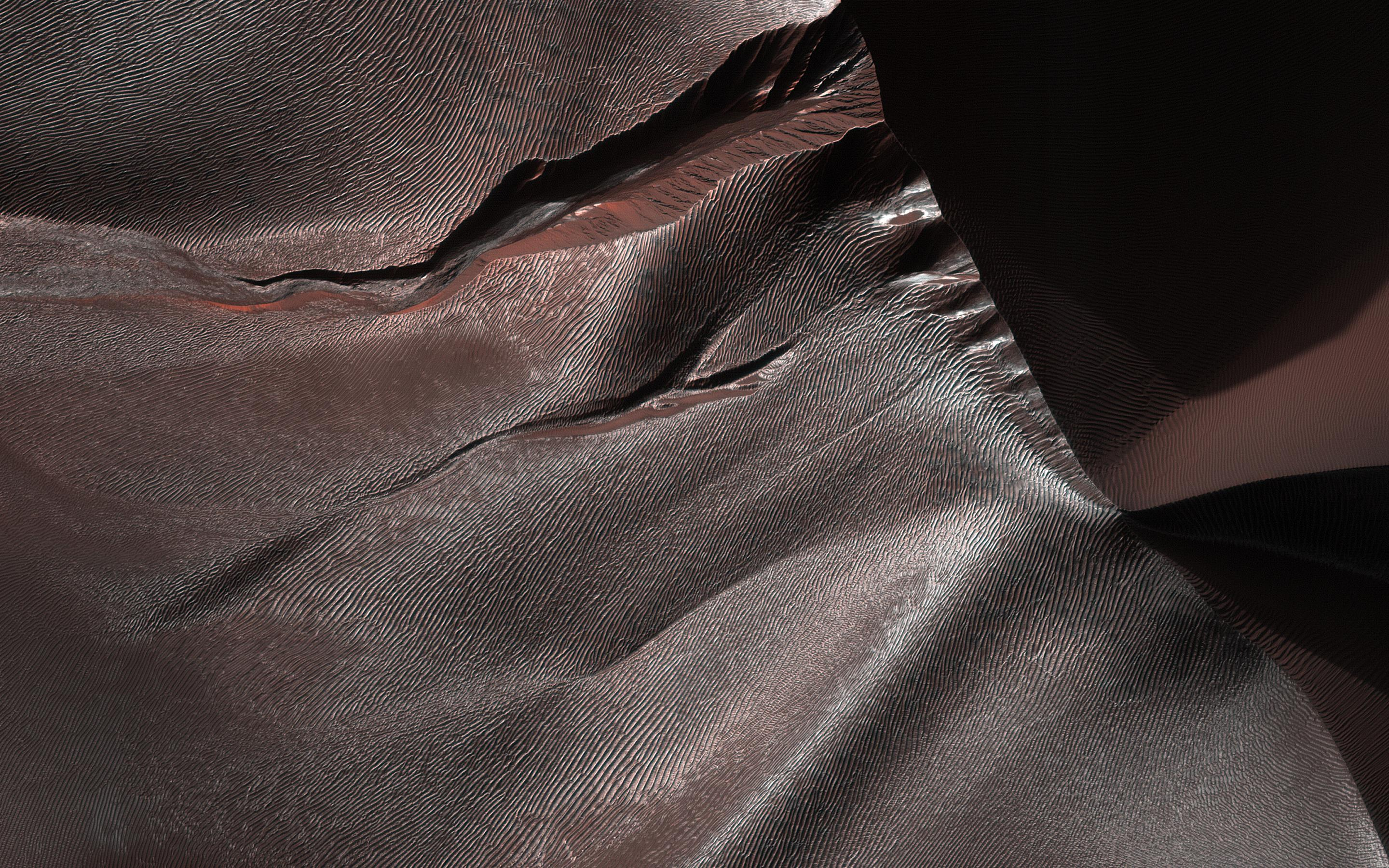 Gullies of Matara Crater, Mars