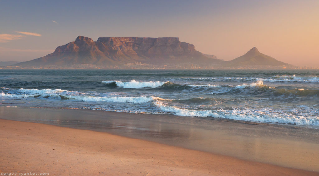 Sunset Beach near Cape Town