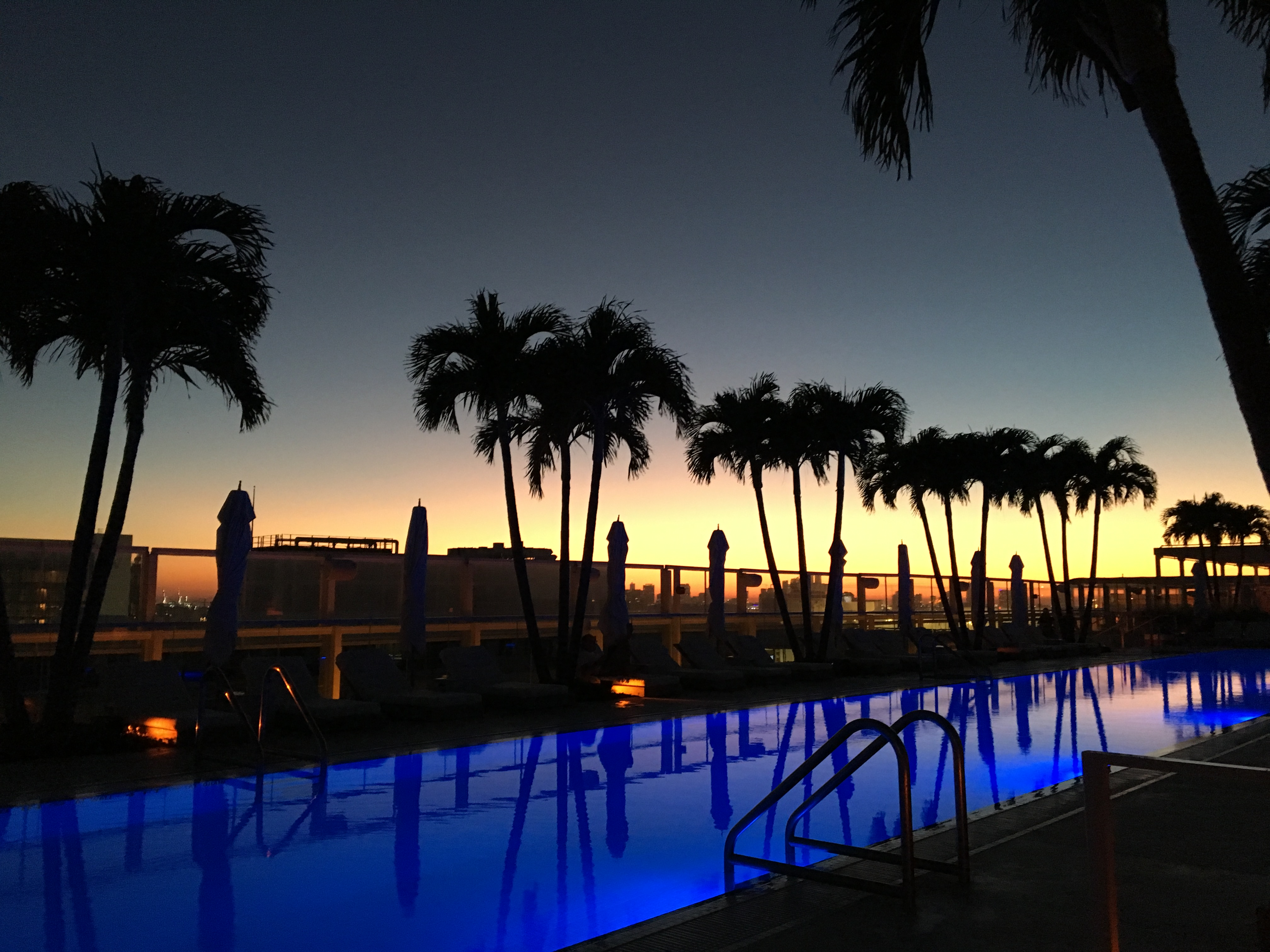 Rooftop Sunset, Miami Beach