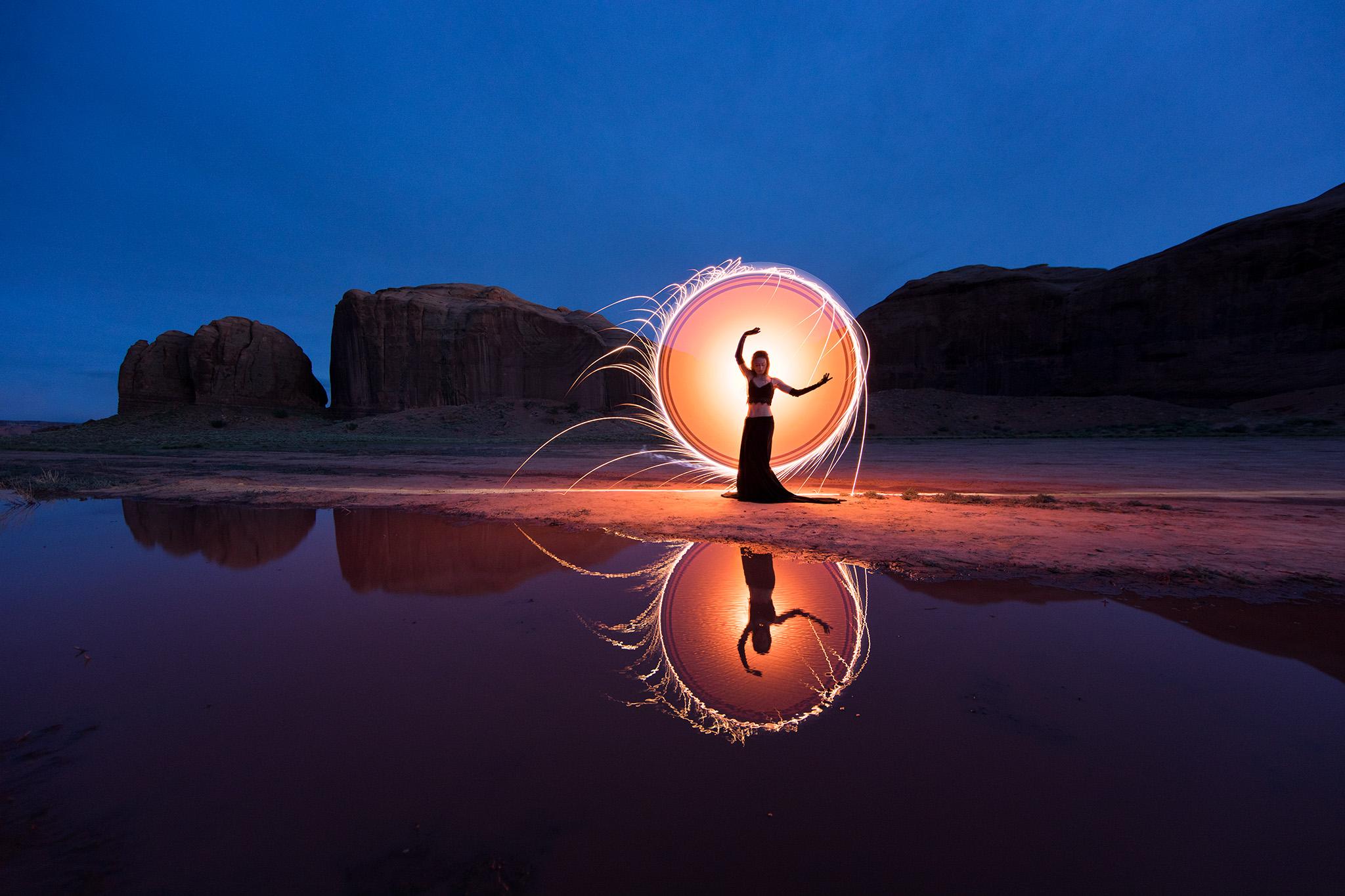Light painting, Arizona