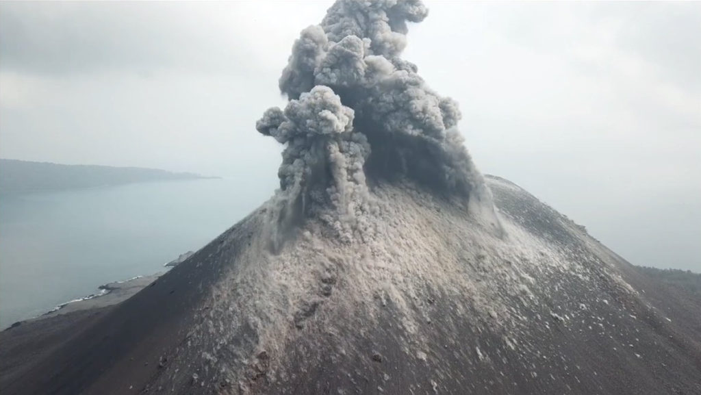 Anak Krakatoa eruption, Indonesia