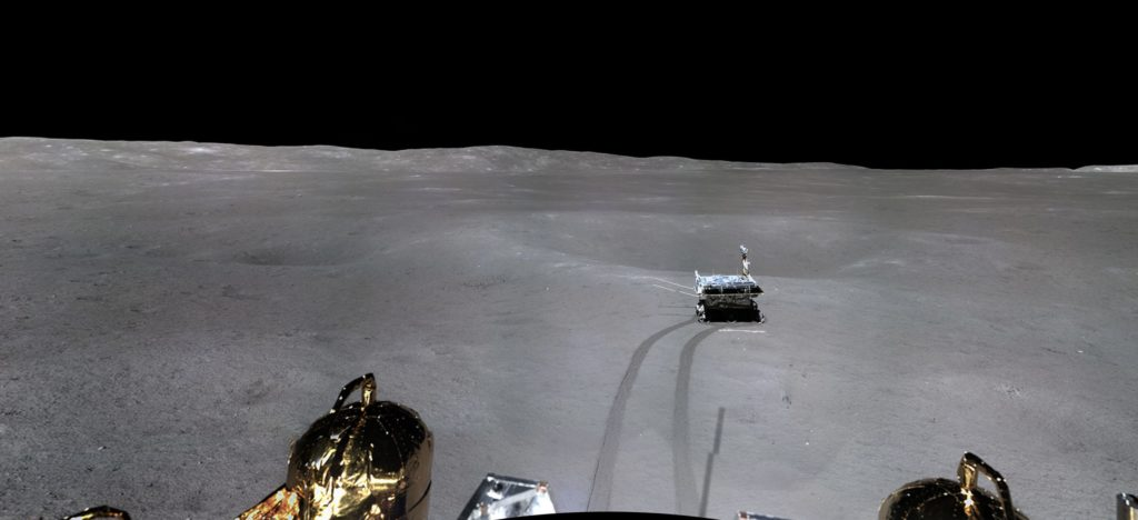 Chang'e-4 lunar mission panoramic picture