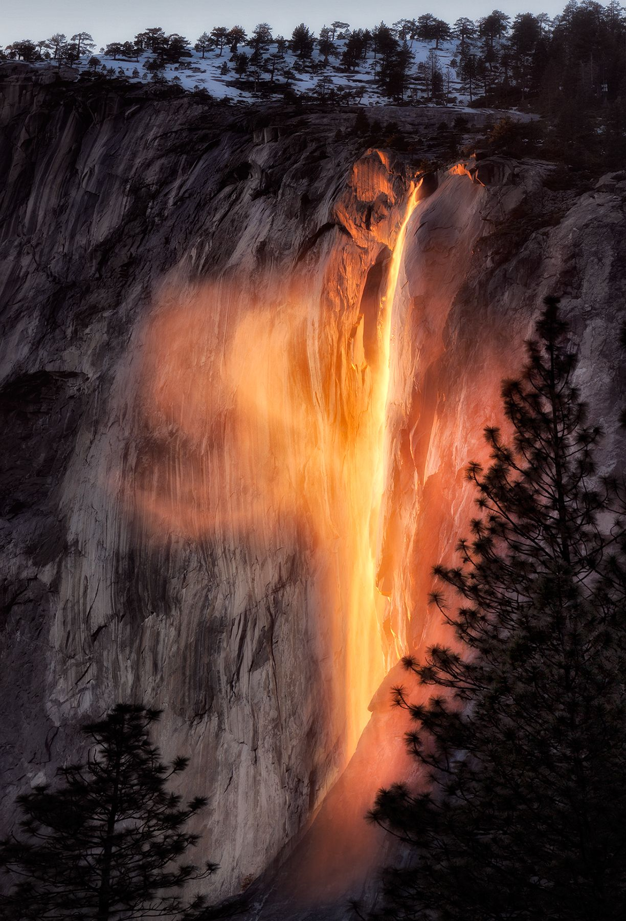 Golden Horsetail Falls, Yosemite National Park