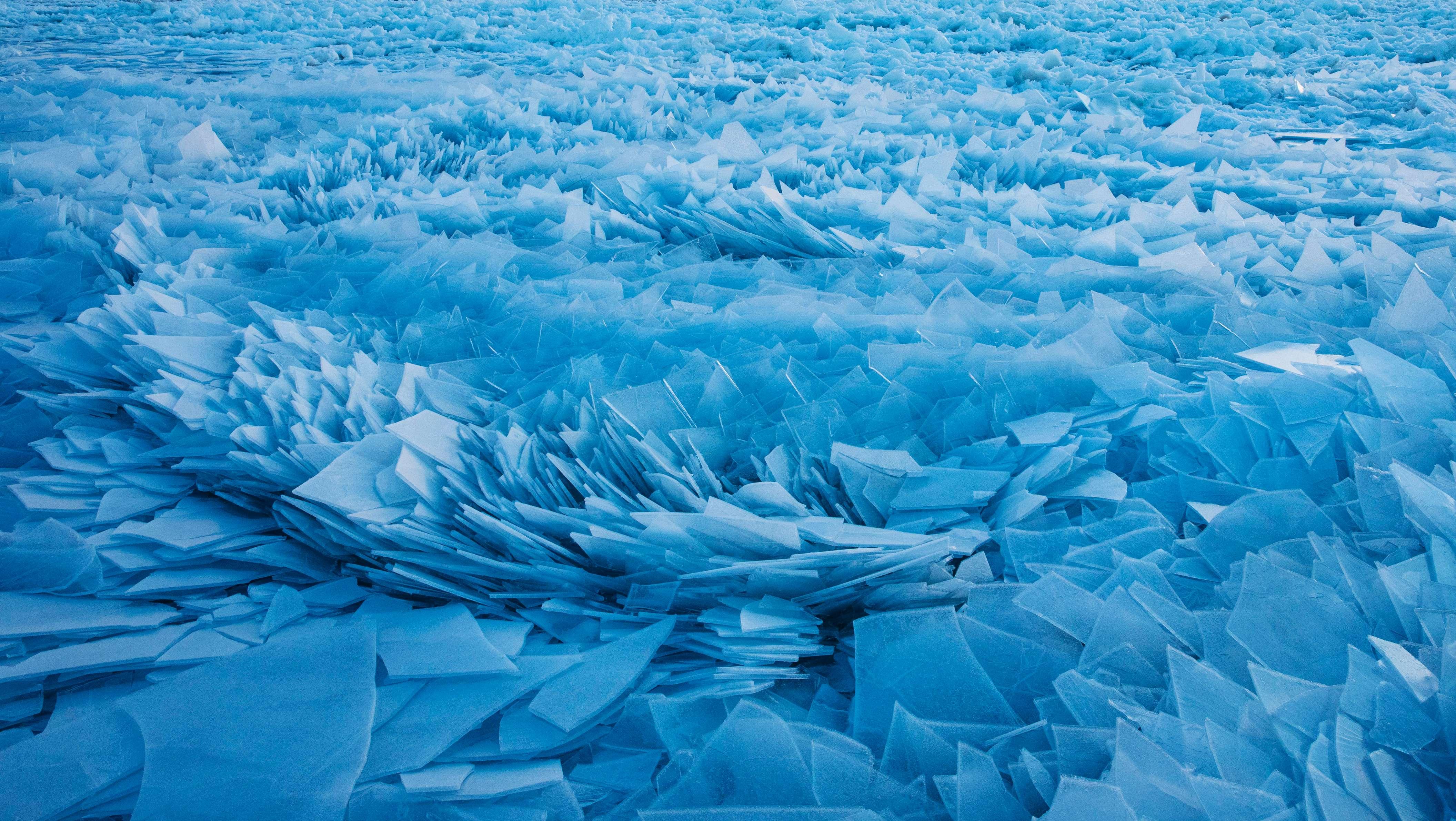 Shards of ice, Lake Michigan