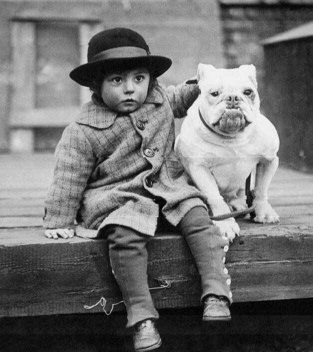 George Spinney with his Bulldog