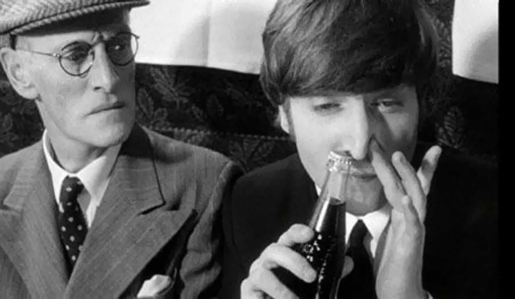 John Lennon snorting Coke