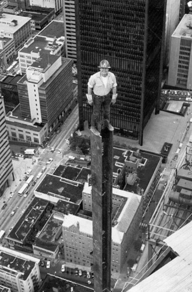 Construction worker, Seattle, 1980