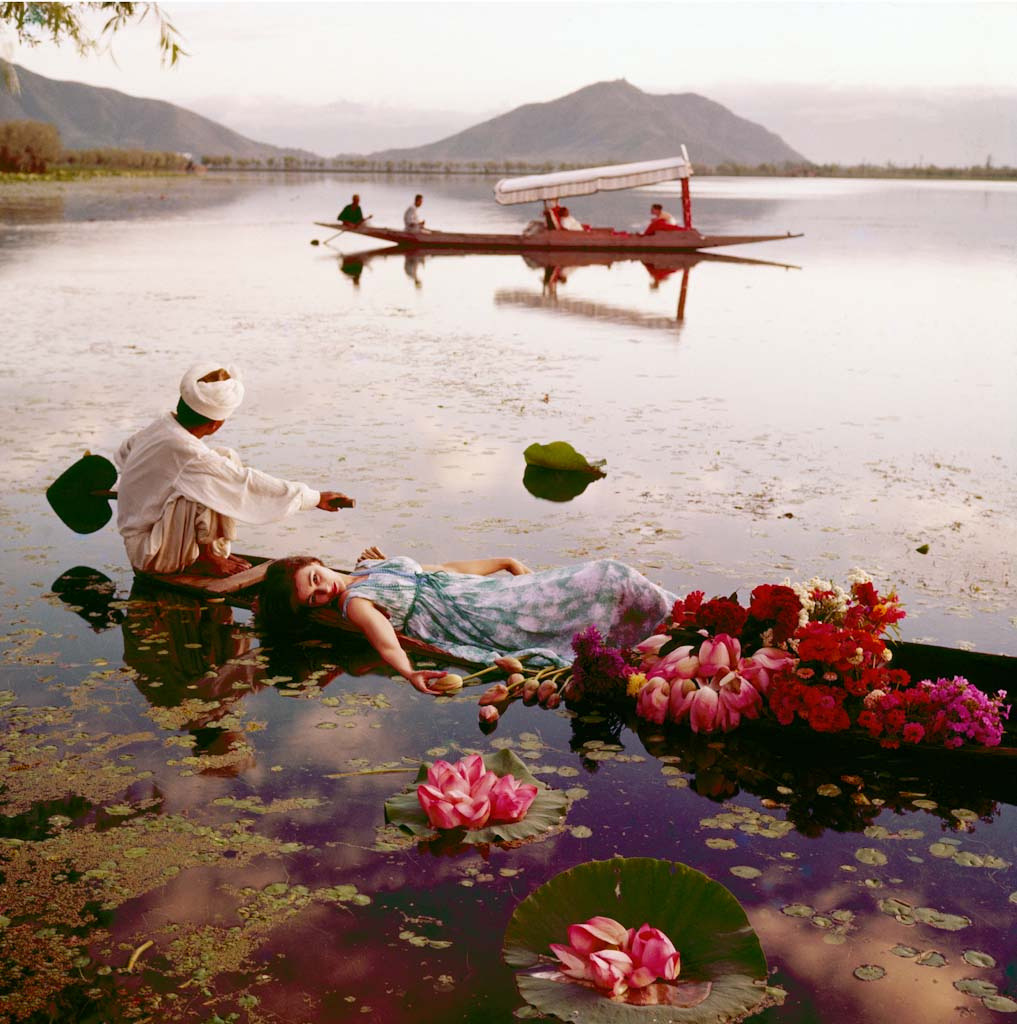 Floating with Flowers, Dal Lake, Kashmir, 1956