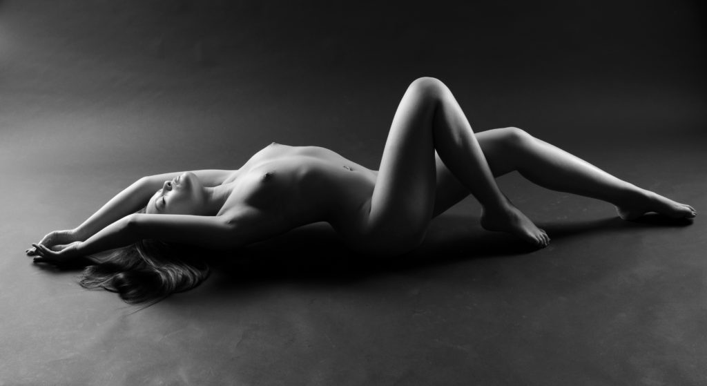 Nude recumbent woman