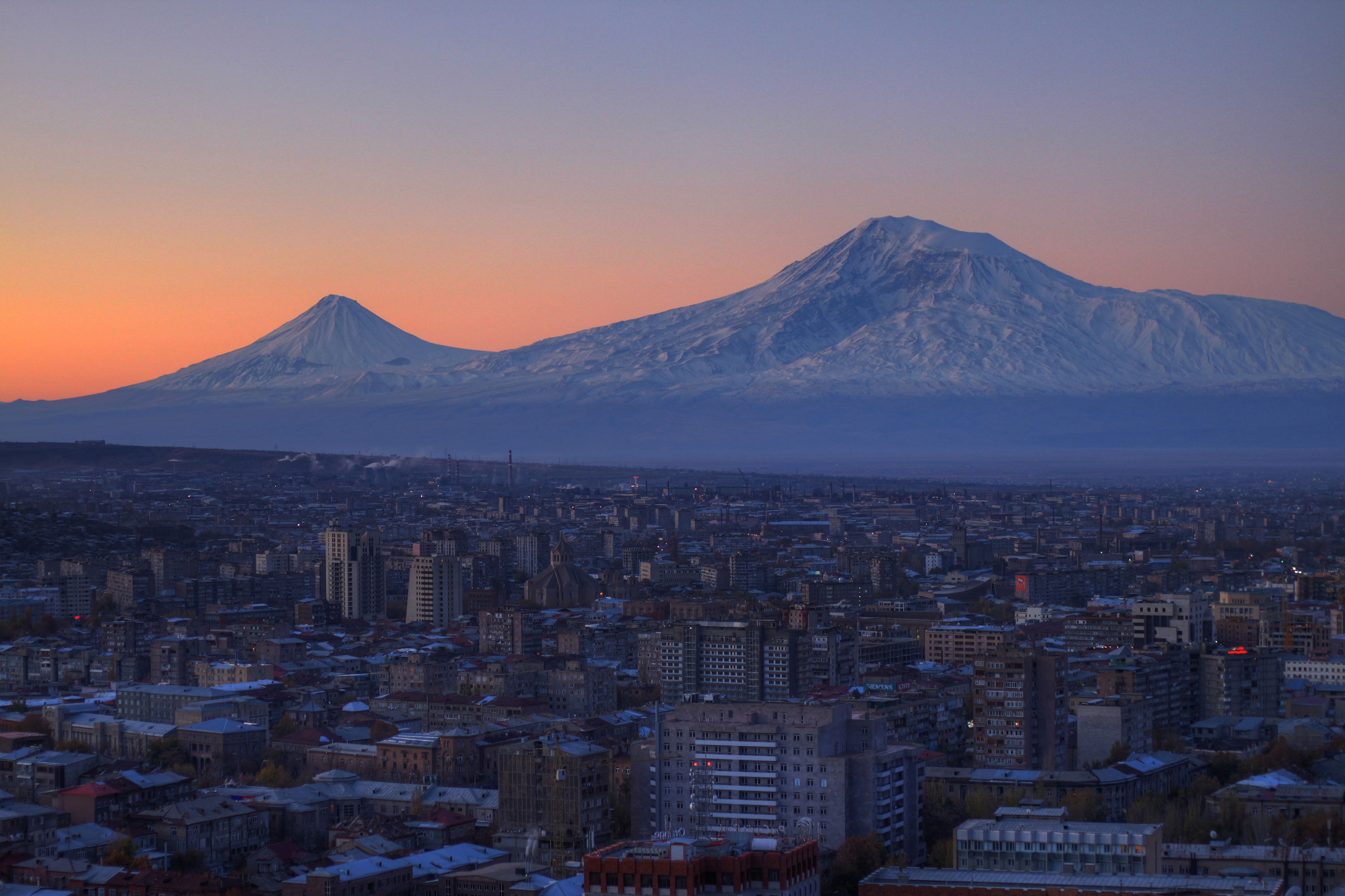Yerevan and Mount Ararat, Armenia