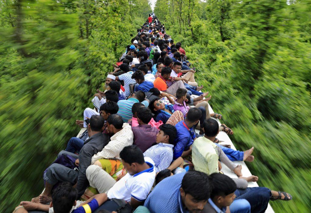 On the train, Bangladesh