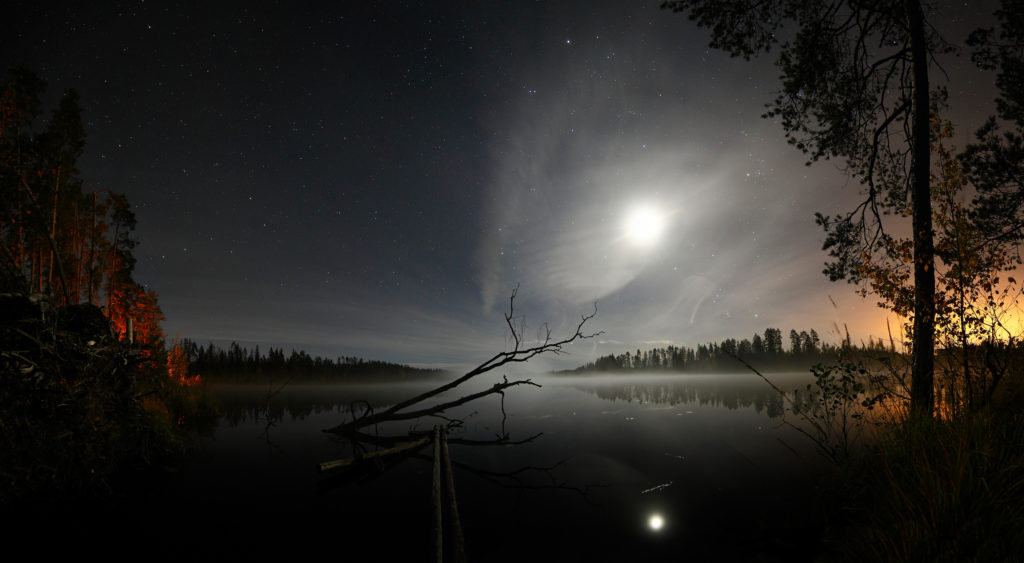 Lake at night, Russia