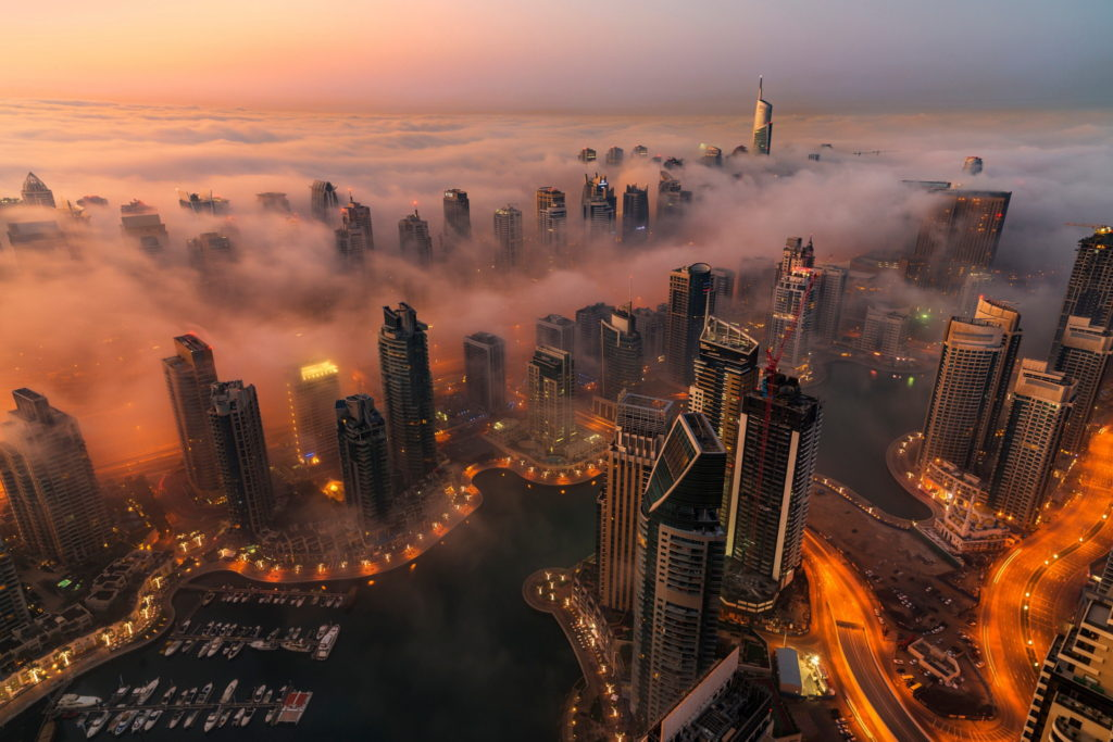 Dubai in evening, UAE