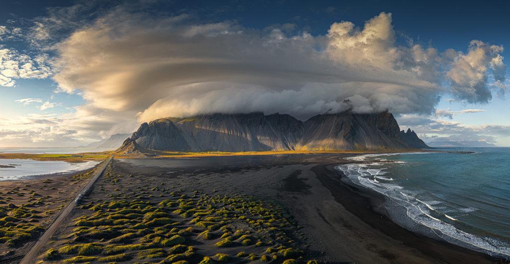 Vestrahorn storm, Iceland