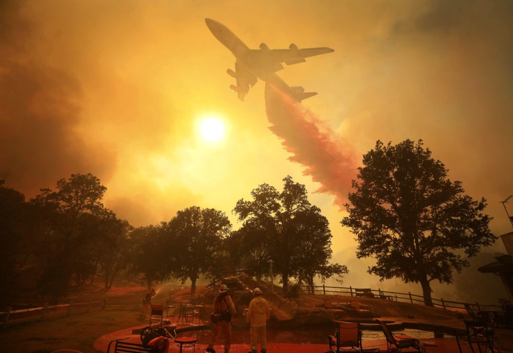 Boeing 747 firefighting in California, August 2018
