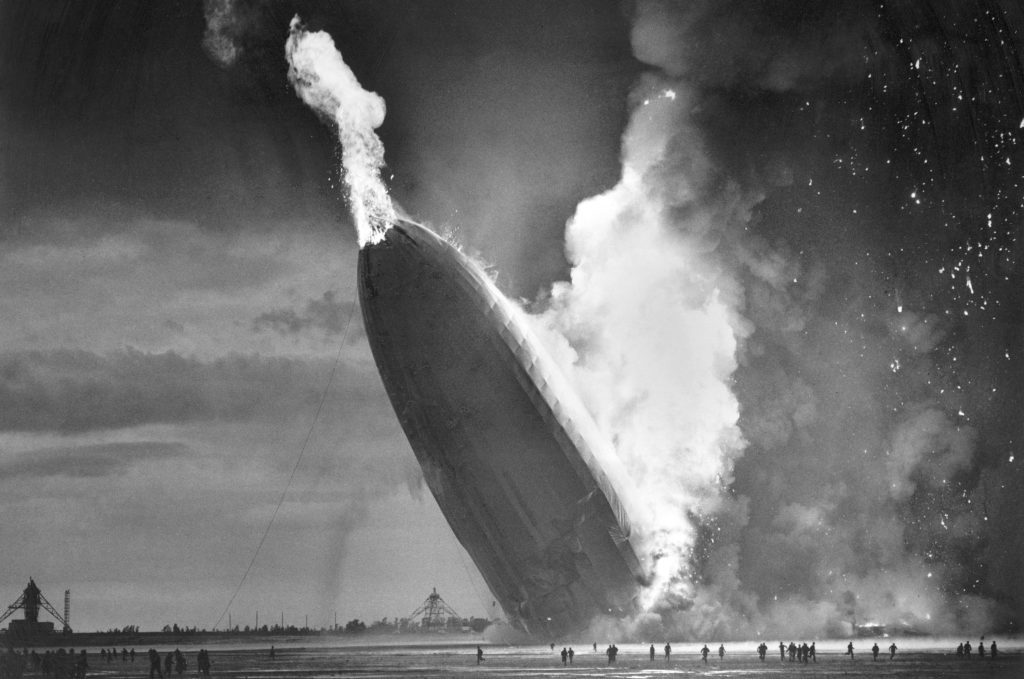 Hindenburg Disaster, Lakehurst, New Jersey, May 6, 1937