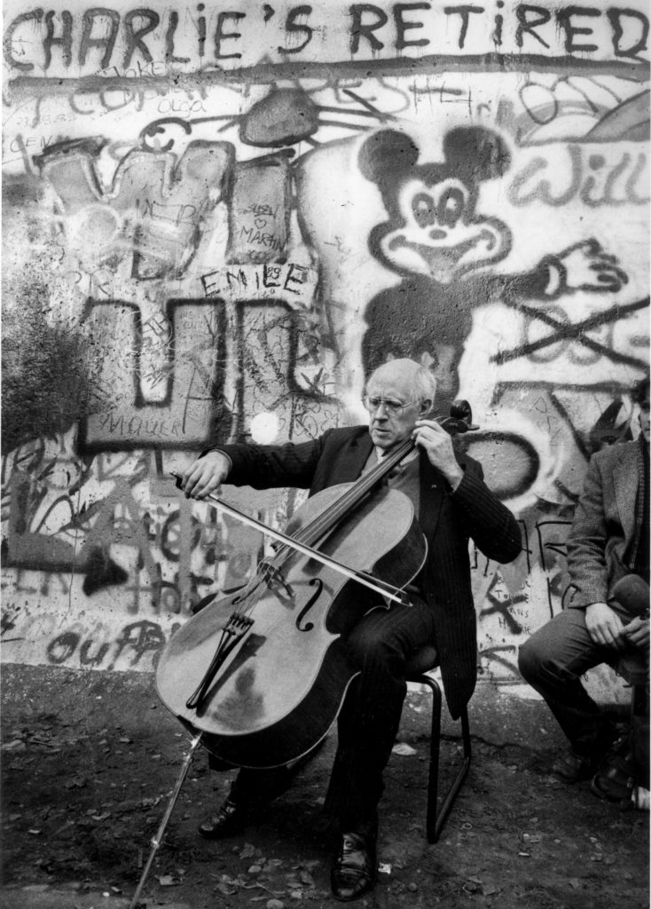 Rostropovich, Berlin Wall, November 10, 1989
