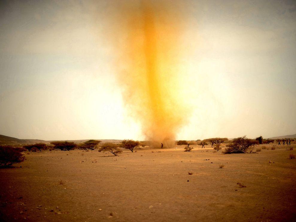Dust tornado, Djibouti